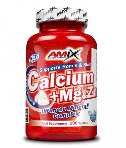 AMIX Calcium + Mg & Zn 100 Tabs.