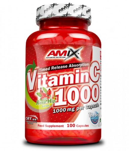 AMIX Vitamin C with Rose Hips 1000mg. 100 Caps